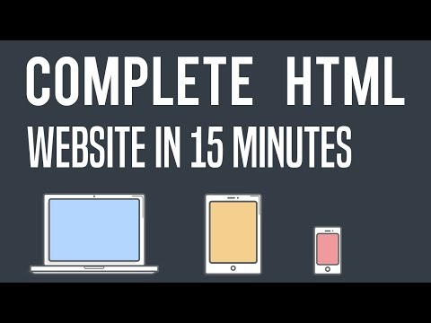 Complete HTML Website in 15 Minutes