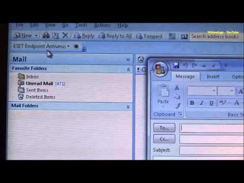 Microsoft Outlook 2007 no send button