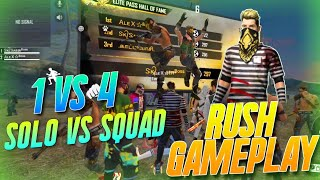 SOLO VS SQUAD RANKED HIGHLIGHTS || BEST KILLING MONTAGE || FREE FIRE BATTLEGROUND