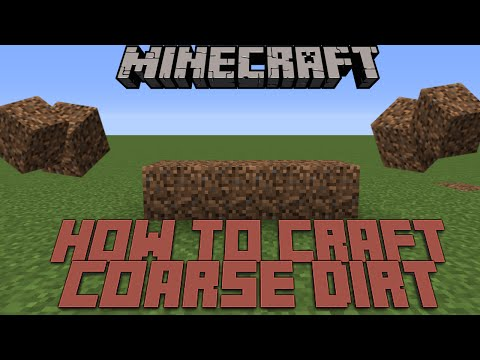 HOW TO CRAFT COARSE DIRT IN MINECRAFT?
