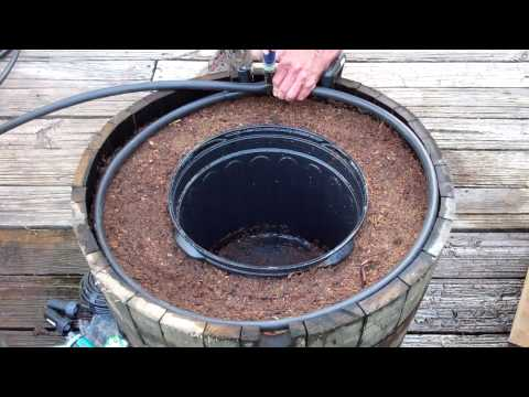 cut half inch DIG hose to barrel inside diameter attach ends to tee
