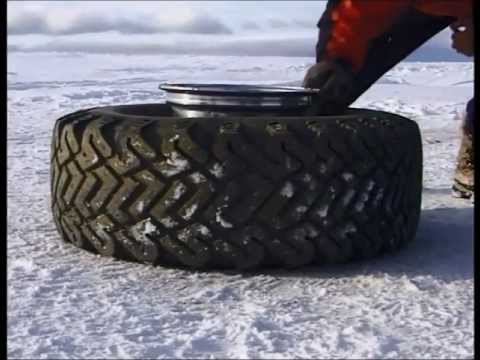 Inflate tire with starter fluid, THE ORIGINAL