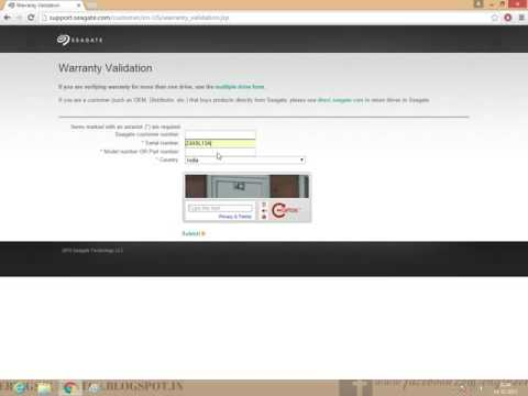 HOW TO CHECK SEAGATE HARD DISK WARRANTY ONLINE