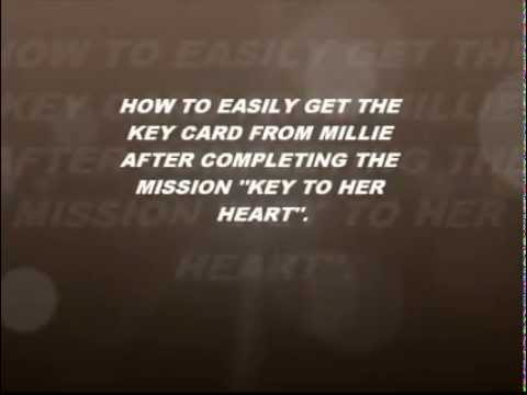 How to easily get the keycard from millie after completing the mission