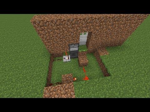 Minecraft Tutorial - Password/Key locked Door w/ Hoppers (Hidden wiring)