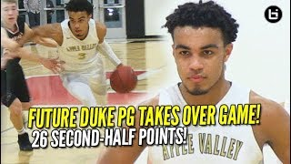Tre Jones TAKES OVER Game! Future DUKE PG Scores 26 Second-Half Points! Highlights and Interview!