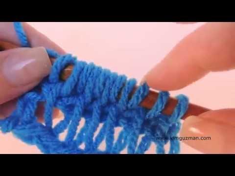 Tunisian Crochet: Drop Stitch
