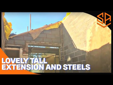 Bricklaying with Steve and Alex PUTTING IN STEEL BEAMS PLUS EXTENTION BUILD