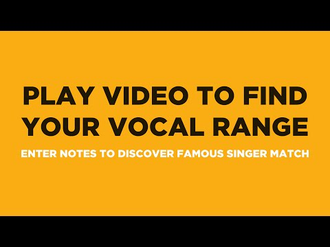 Find Your Vocal Range & Famous Singer Match (in 90 Seconds)