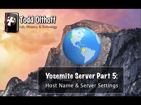 OS X Yosemite Server Part 5: Host Name & Server Settings