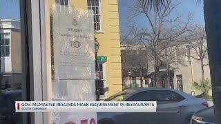 Gov. McMaster lifts restaurant mask requirement