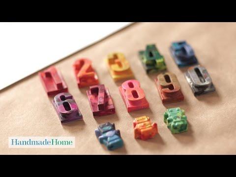 Homemade Marble Crayons - Handmade Home - Martha Stewart