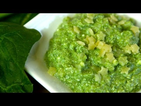 Pasta with spinach - baby food recipe +9M