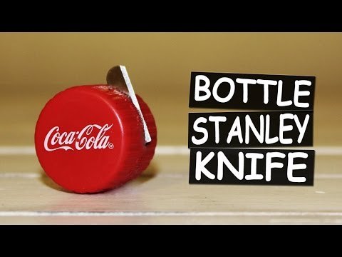 How to Make Utility Knife with Bottle Caps