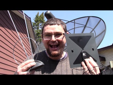 Clear TV Flat Antenna Review and Unboxing + VS Rabbit Ears