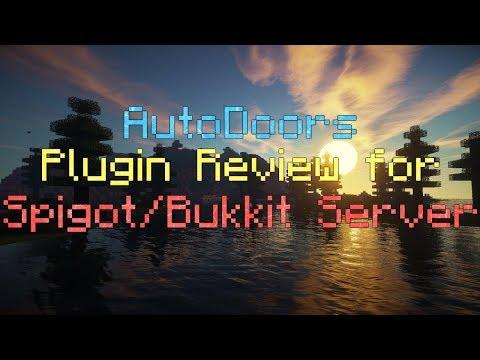 AutoDoors Plugin Review for Spigot/Bukkit Server