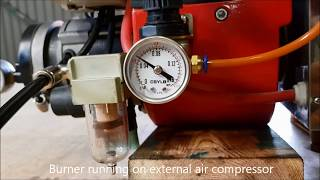 Bairan STW120P waste oil burner fixed