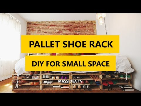 45+ Creative Pallet Shoe Rack DIY for Small Space 2017
