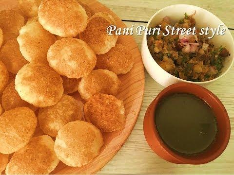 Perfect street style Pani puri recipe |  Puri with pani and Aloo Stuffing