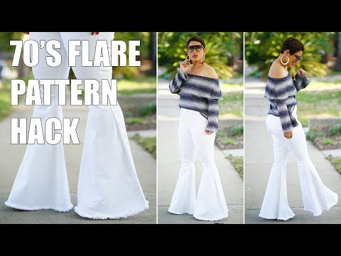 DIY PATTERN HACK: CREATE A 70'S EXAGGERATED FLARE