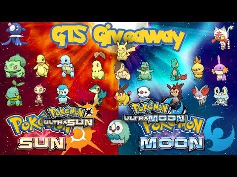 Pokémon SUN & MOON/ULTRA GTS GIVEAWAY |  | Shiny Generation 1-7 Starters | PreEvoloution Versions