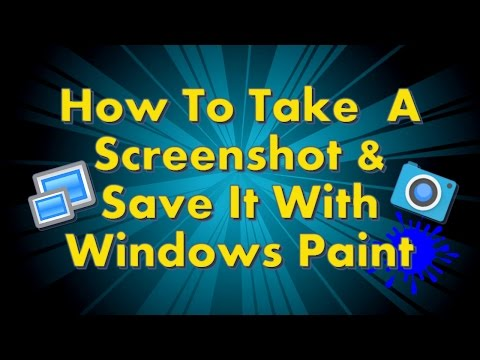 How to take a Screenshot & Save it as an Image File using Windows Paint