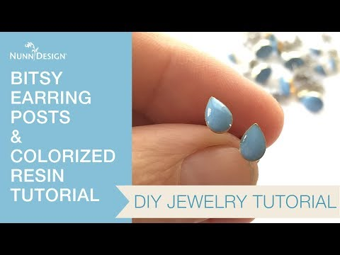 Make These Bitsy Earrings with Colorized Resin