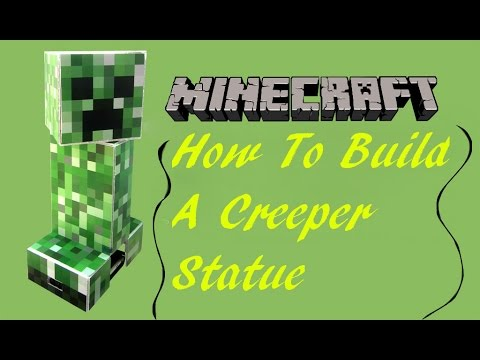Minecraft:How To Build A Detailed Creeper Statue!