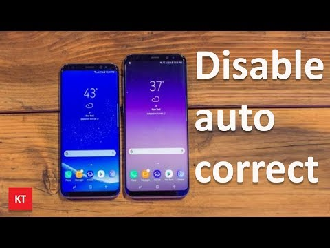 How to turn off autocorrect on s8/note8