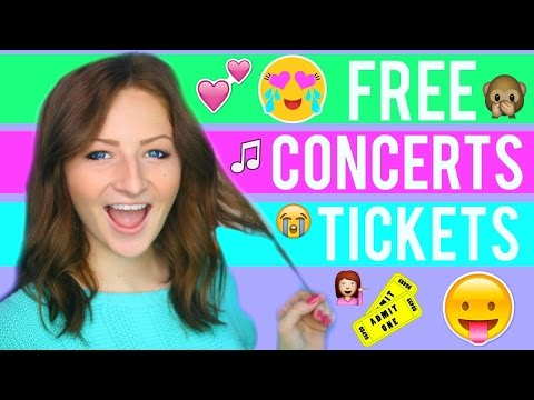 LIFE HACKS: HOW TO GET FREE CONCERT TICKETS
