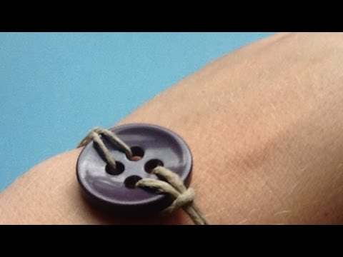 How To Create an Easy Slip Button Bracelet - DIY Style Tutorial - Guidecentral