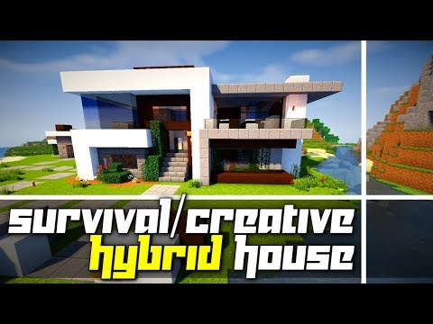 Cool Modern House Built For Survival Mode! (Tour)