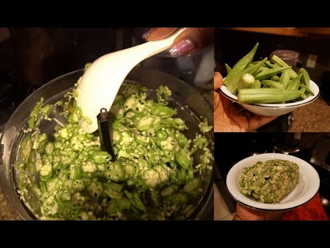 How to slice okra using a food processor