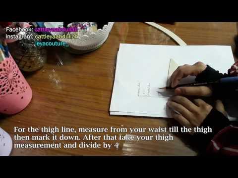 Drafting a mermaid skirt pattern