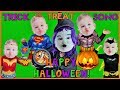 TRICK Or TREAT Song For Kids Baby Superheroes Trick Or Treating For Candy CHERBEAR Music And Songs