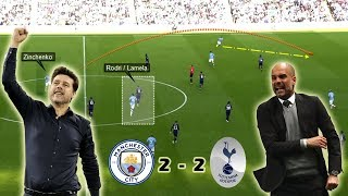 Wide Overloads & Attacking the Half Spaces   Man City vs Tottenham 2-2   Tactical Analysis