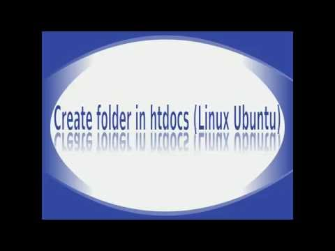 How to create any folder in htdocs (Linux Ubuntu)