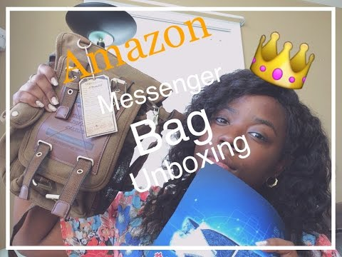 KAUKKO Canvas Leather Bag| Amazon Seller | Back2SchoolWithJess