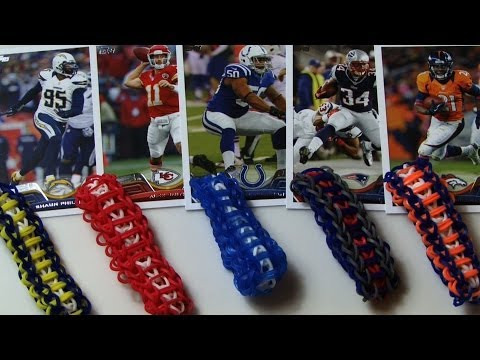 HOW TO MAKE RAINBOW LOOM LADDER BRACELET SPORTS COLORS *EASY*