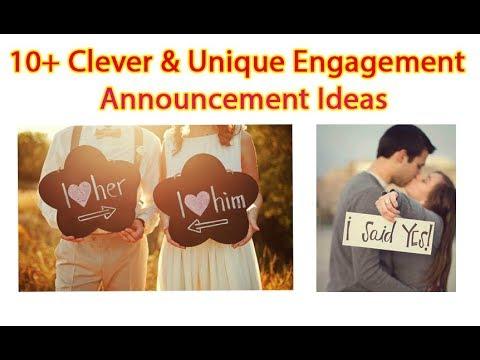10+ Clever & Unique Engagement Announcement Ideas