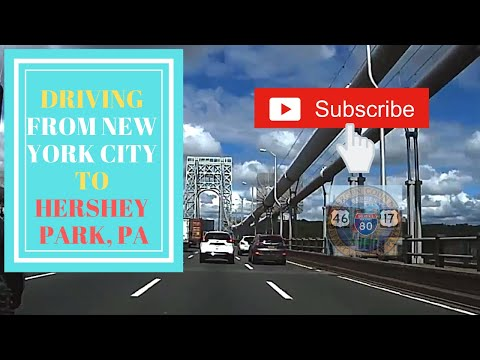 Driving from New York to Hershey PA  June 7, 2017