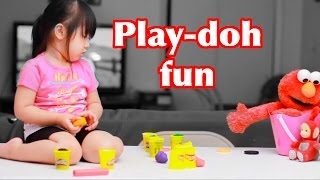 Learning Colors With Play Doh - Fun kids children toddlers play with Elmo, Minnie, and Po