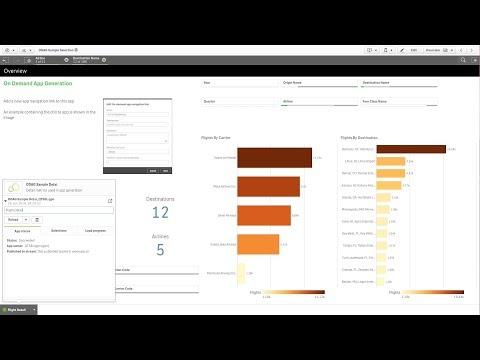 Managing big data with on-demand apps - Qlik Sense