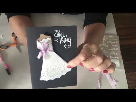 How to make a doily dress in a few minutes so easy and cute