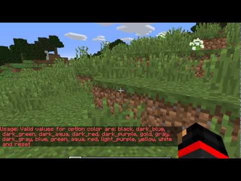 How to make your name colored in Minecraft (EASY)