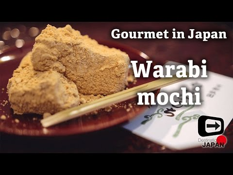 Warabi mochi | Traditional Japanese sweets | Gourmet Japan | わらびもち 4K