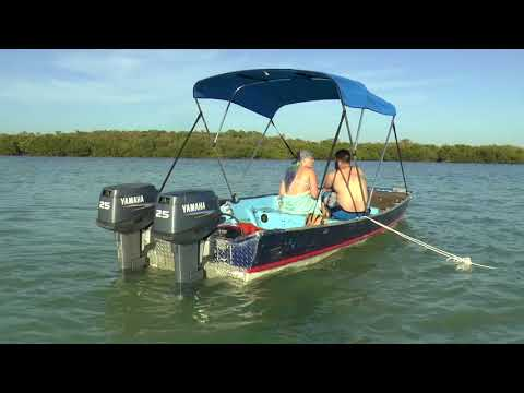 Twin Yamaha 25hp Outboards On a Jon Boat