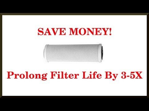 SAVE MONEY! Clean Your Cartridge Water Filters