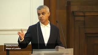 Trump supporters disrupt speech by London Mayor Sadiq Khan