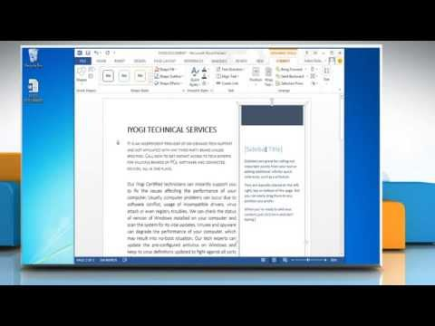 How to add Text Box in a  MS Word 2013 document